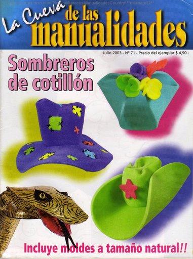 Revista La Cueva De Las Manualidades N   31  Sombreros De Cotillon
