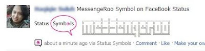 facebook symbols messengeroo text art