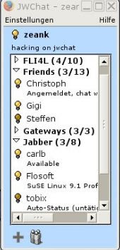 jwchat contact list window