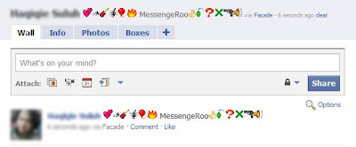 Emoticons in Facebook Status Facade