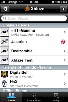 XBlaze Xfire Chat Client Mobile for iPhone n iPod Touch