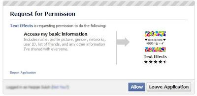 thesis status facebook