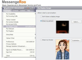 Change Yahoo Messenger Avatar Display Image