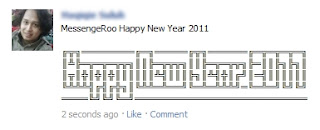 MessengeRoo Art ASCII Facebook Status Happy New Year 2011