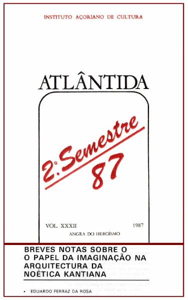 """""""Breves Notas sobre o Papel da Imaginação na Arquitectura da Noética Kantiana"""". 1987."""