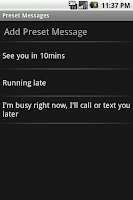 Screenshot - Preset Messages