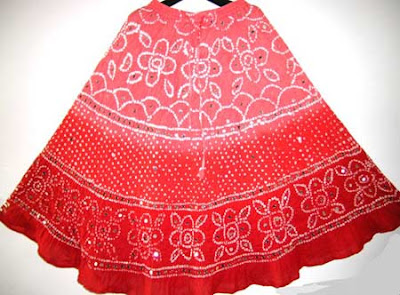 Indian Bandhini Skirts Long skirts