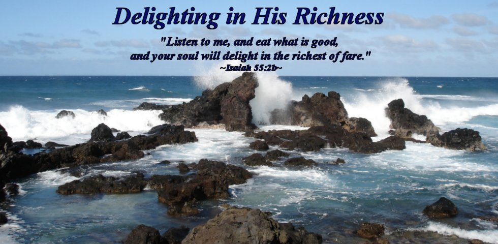 Delighting in His Richness