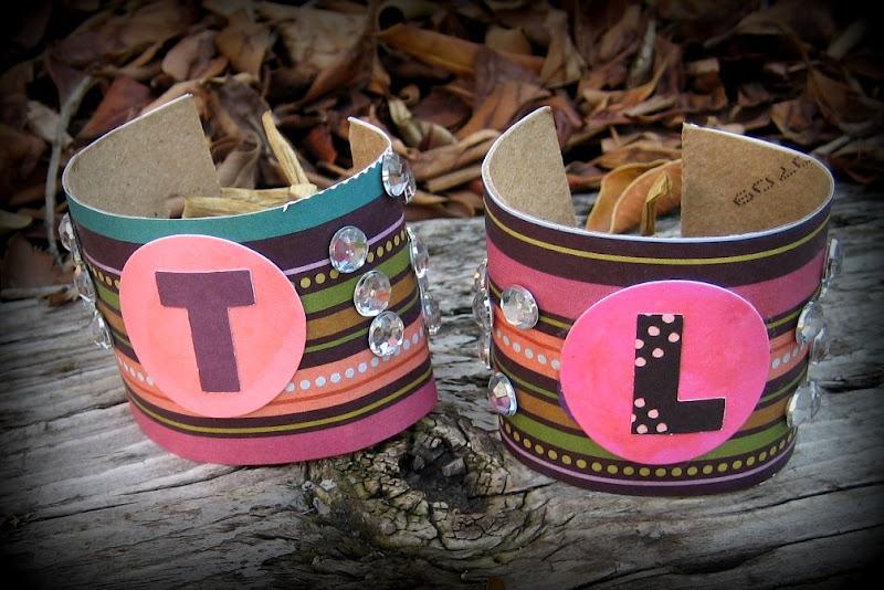 flipflops and applesauceCuff Bracelets from toilet paper rolls