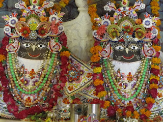 Krishna and Balarama at the Govardhana ISKCON temple