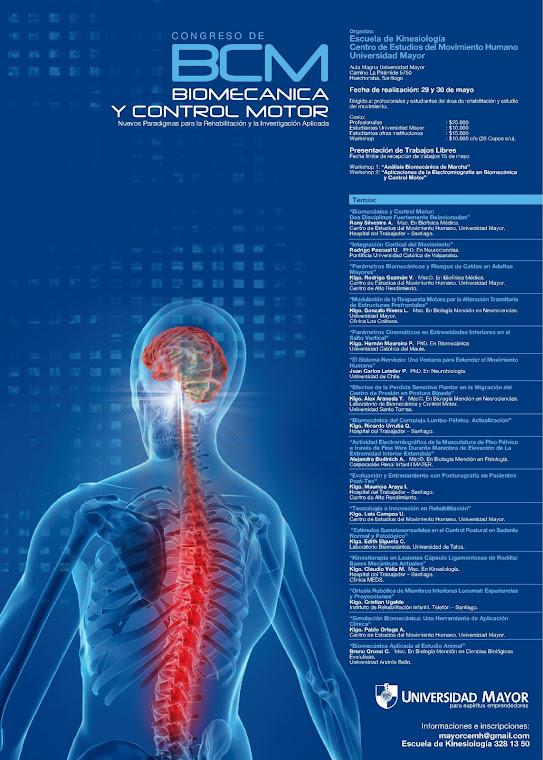Congreso de Biomecanica y Control Motor
