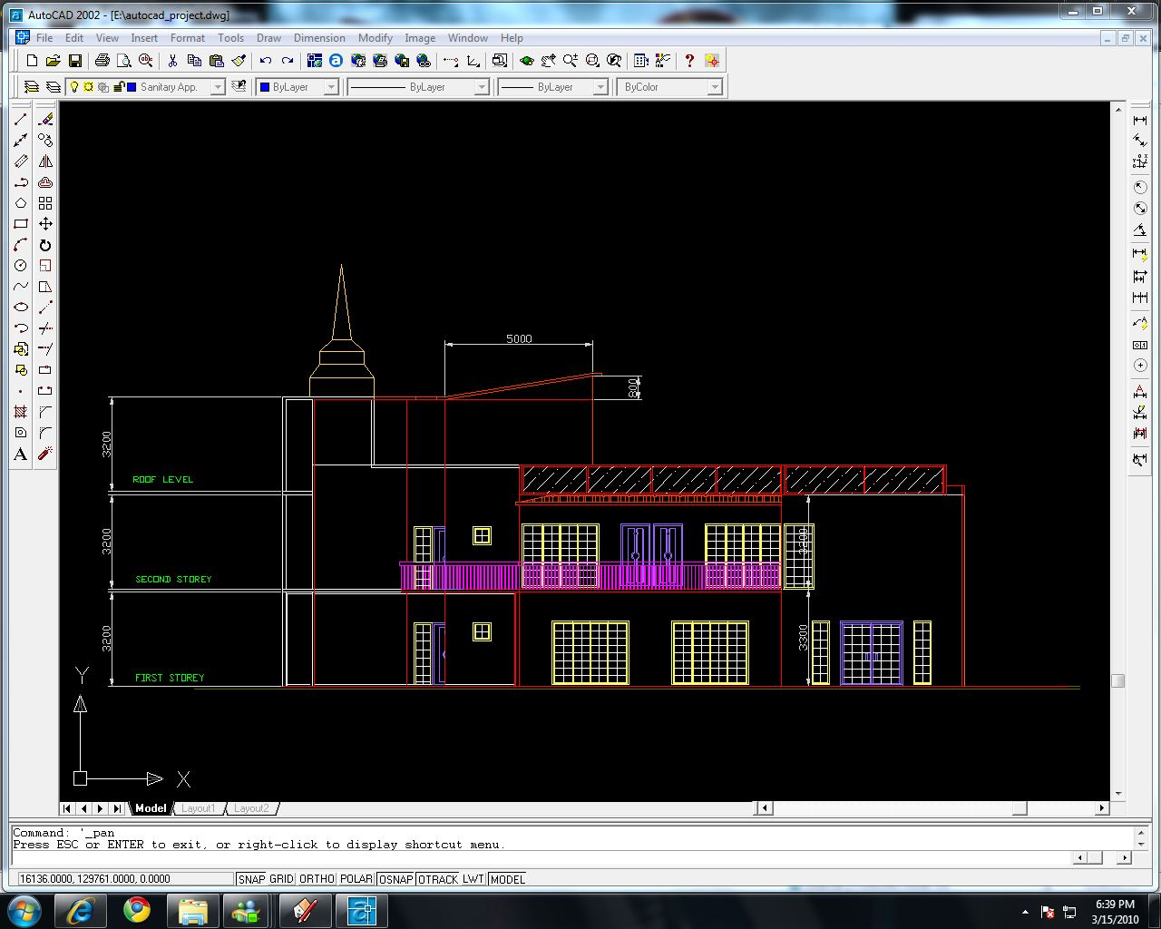 Front Elevation Autocad 2d : D autocad front elevation joy studio design gallery