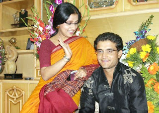 Rare image of Indian Cricketer Sourav Ganguly with wife Dona