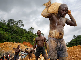 Beautiful Photography Picture of Illegal Miners in Ghana