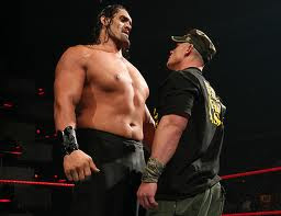 wrestle mania superstars John Cena and The Great Khali