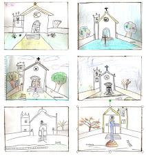 Reproduções  dos alunos da Igrejinha da Nossa Senhora da Imaculada  Conceição da Lagoa
