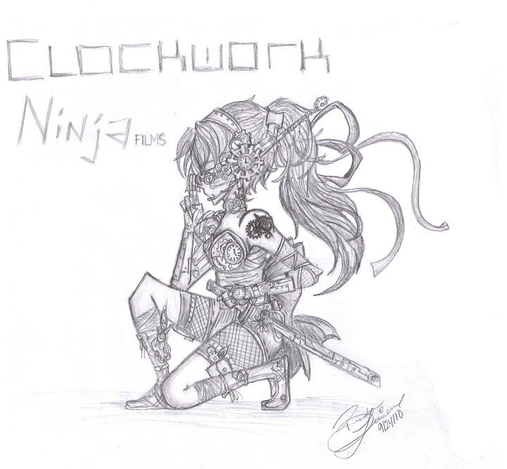 I Had Mentioned Before While At The Laughing Moon Con 2010 Commissioned Brenda Lemieux Of Japanimation Club To Draw A Clockwork Ninja Help