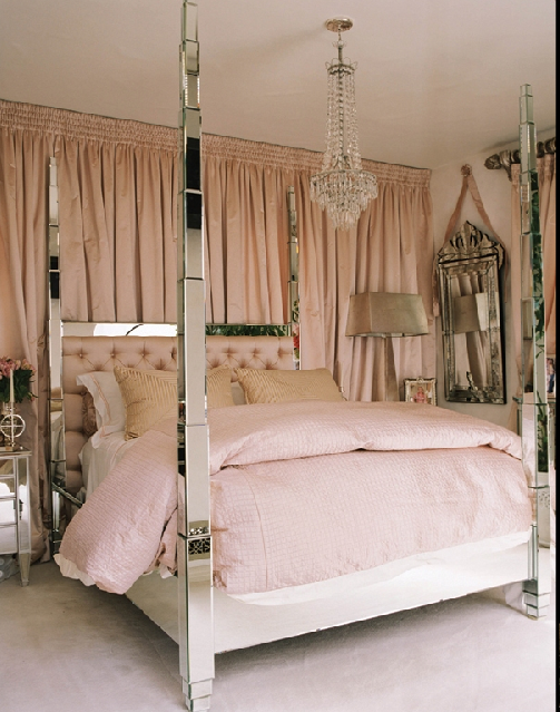 mirrored bed paris hiltons
