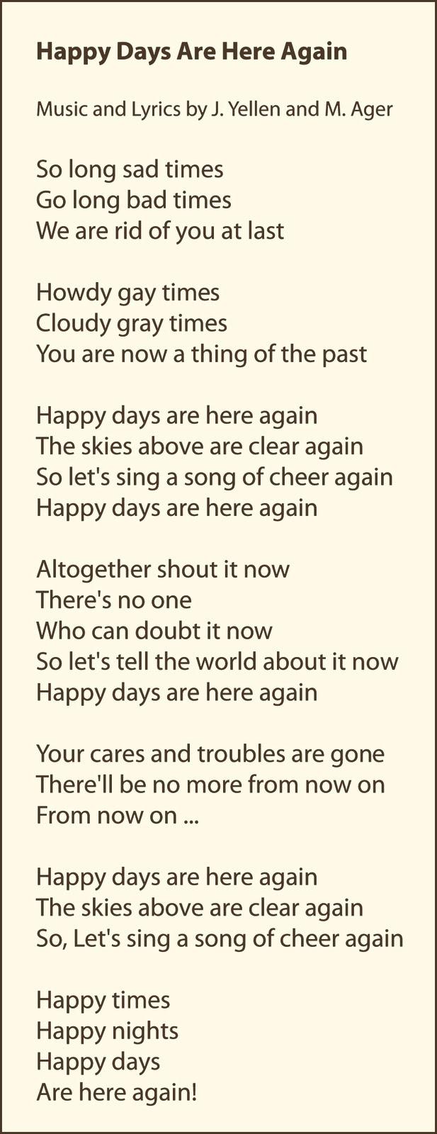 Happy Children Lyrics