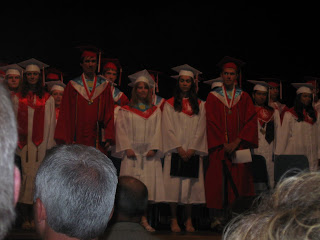 This is of the Baccalaureate ceremony again, but on Graduation Day, this is what my smile must have looked like.