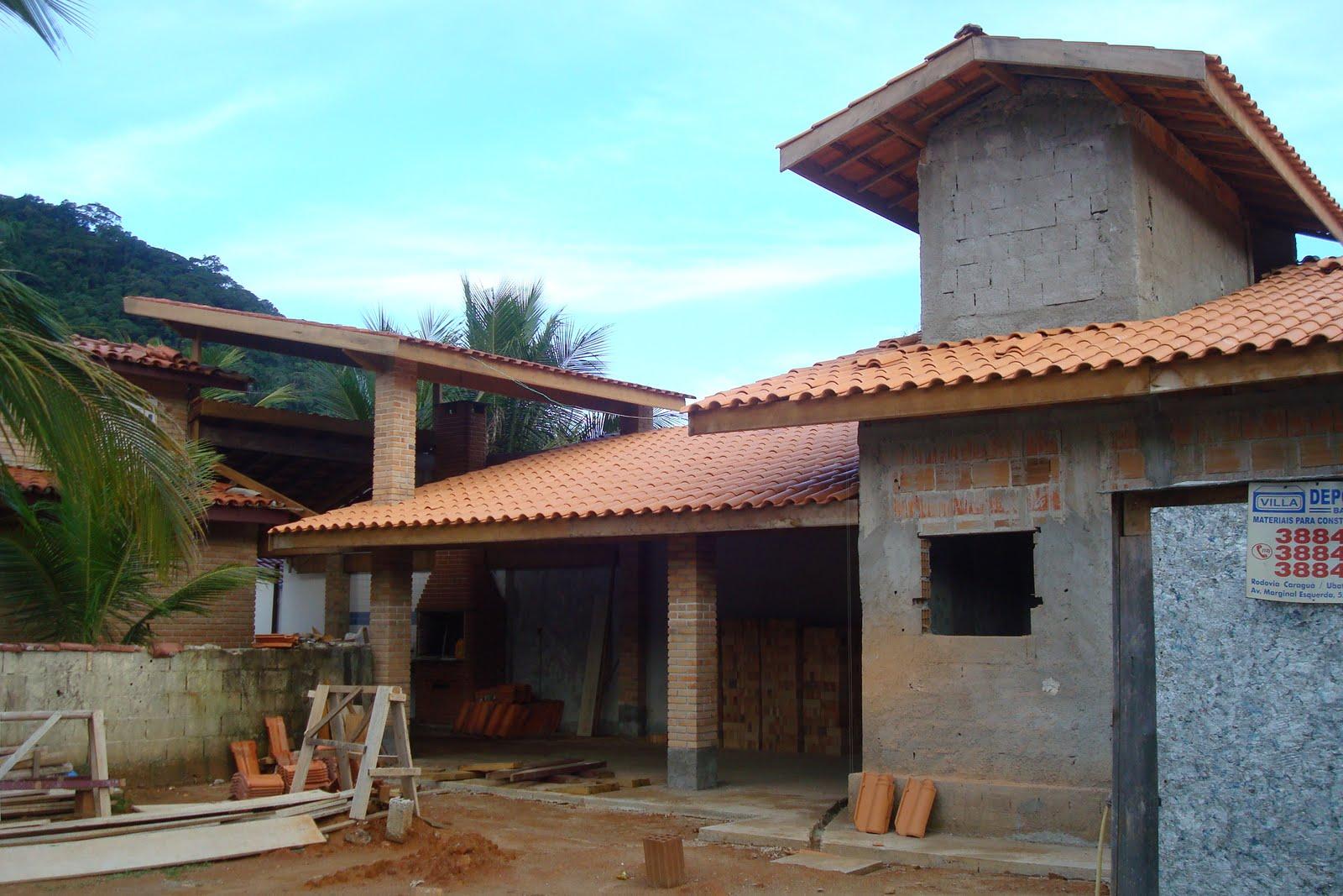 11 Finalizando telhados da área de lazer e churrasqueira Lanfer  #06BFC5 1600x1067