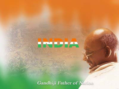 Gandhi Photo - Happy Independence Day Celebration with Our National Geetham Voice