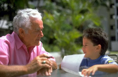 Grandfather with grandson Advice picture