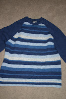 blue sweater - before