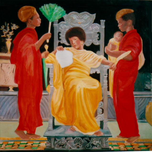Angela and Panthers (Compliments to Albert Joseph Moore)