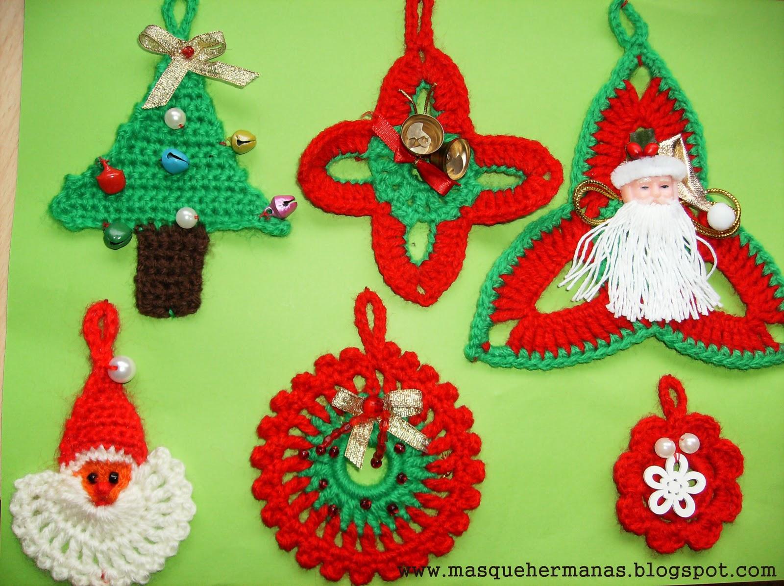 M s que hermanas adornos navide os en crochet - Como realizar adornos navidenos ...