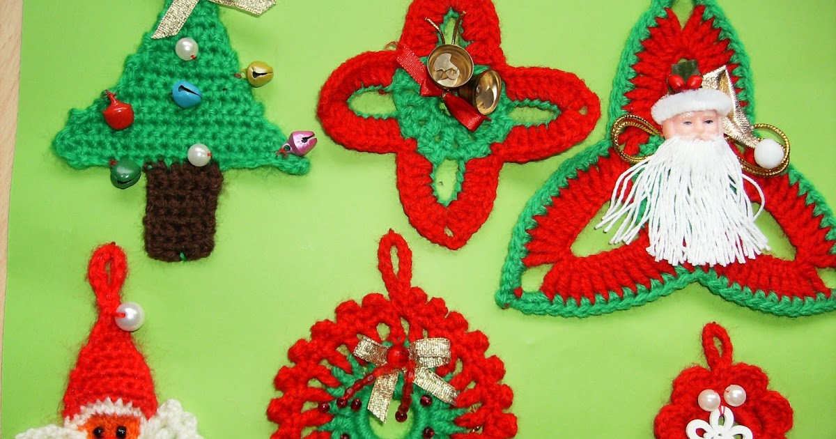 Adornos navide os a crochet o ganchillo manualidades - Adornos navidenos ganchillo patrones ...
