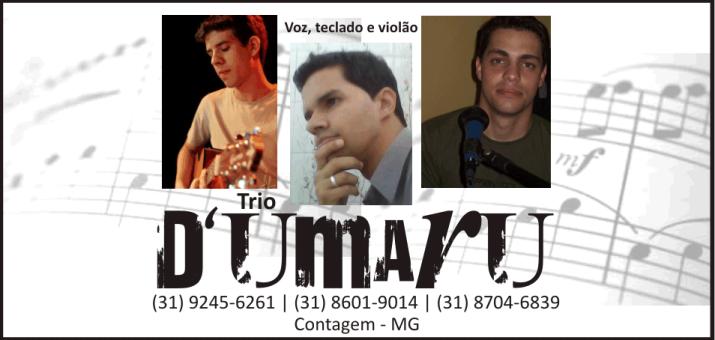Trio D'Umarü - Voz, Teclado e Violão nos bares de BH e Região