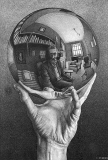 Hand with Reflecting Sphere [M. C. Escher]