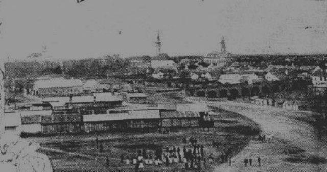 Vedere a orasului in secolul trecut