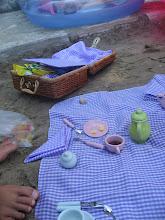 Piknikk på varm sand i Porec.