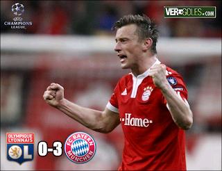 Goles del Partido Lyon Vs Bayern Munich (Goles de Olic)