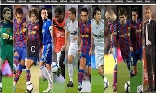 Listado De Los Preseleccionados Para El Equipo Ideal UEFA 2010