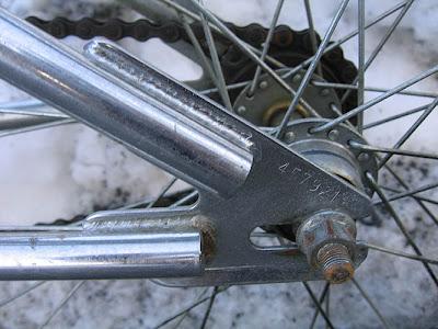 1991 redline 320 bmx bike - rear dropout