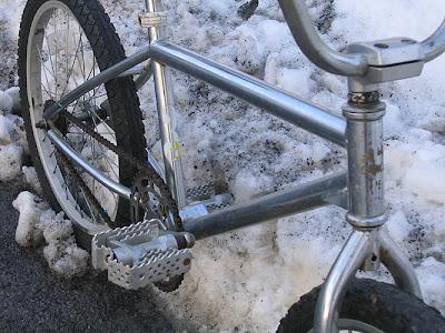 1991 redline 320 bmx bike - frame detail