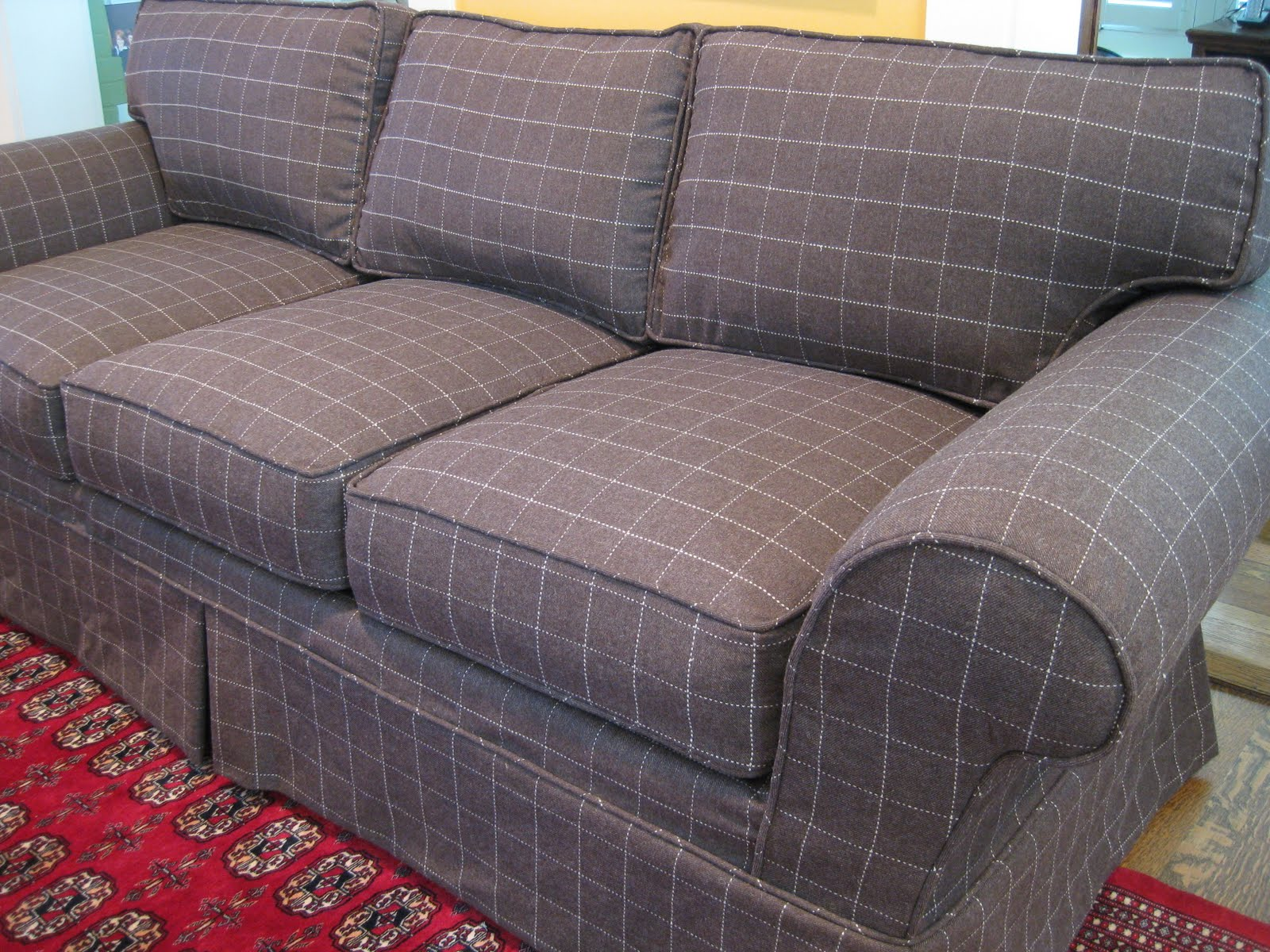 Custom Slipcovers by Shelley Menswear Wool couch