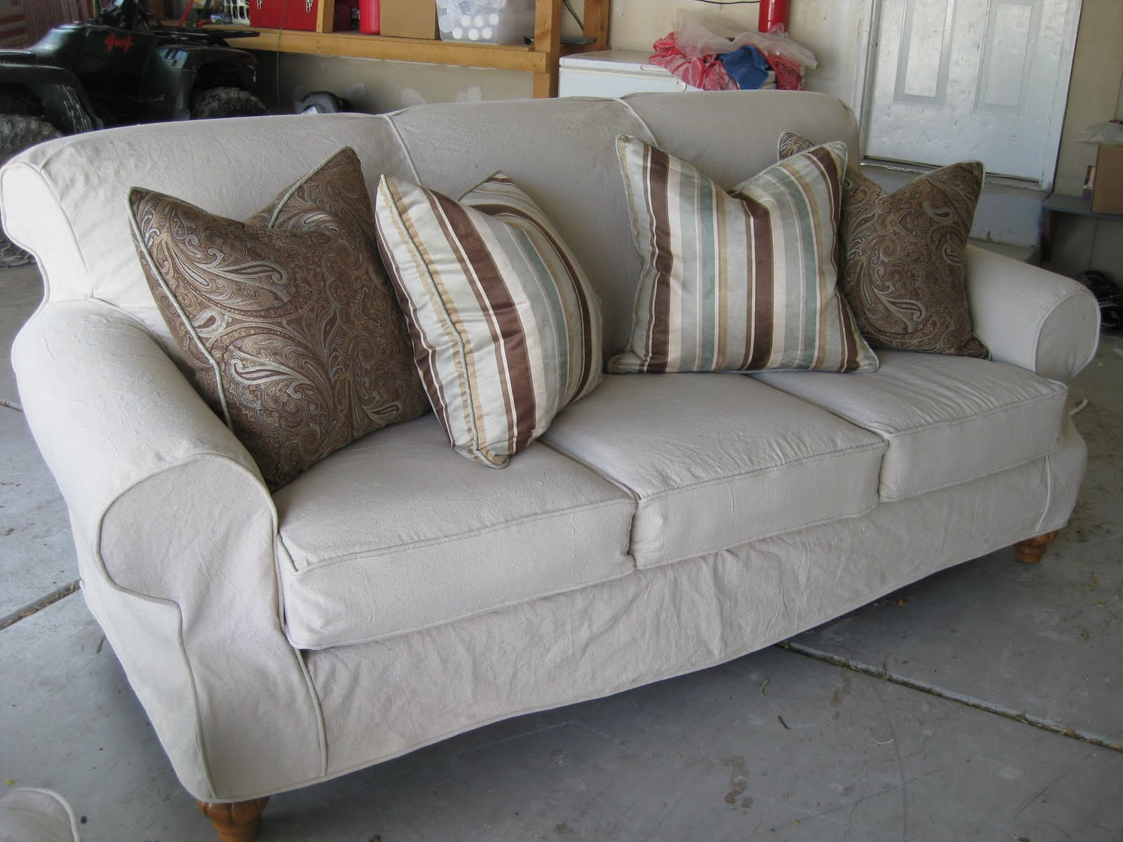 Custom Slipcovers By Shelley: Dropcloth Couch And Chair