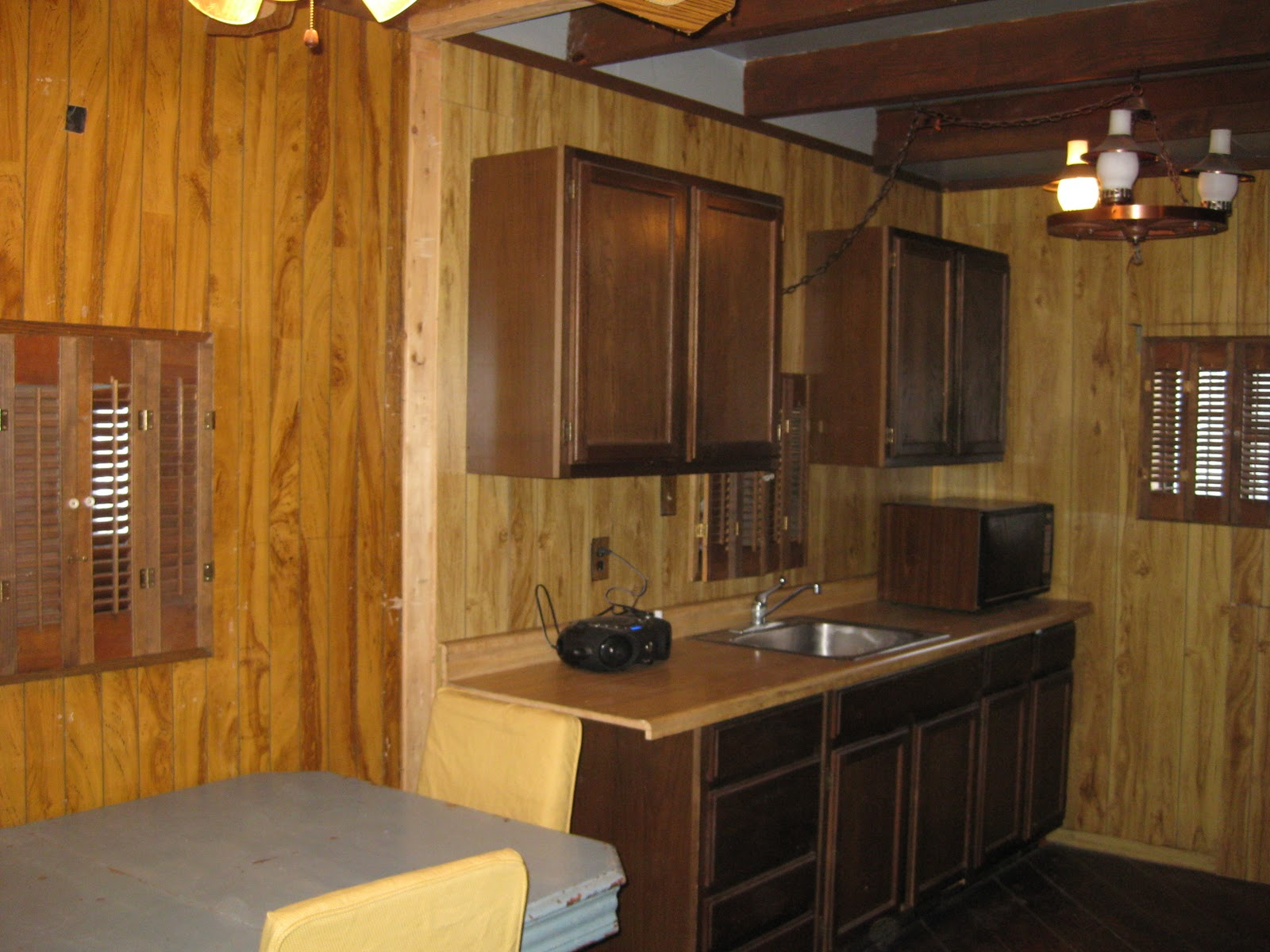 wood paneling makeover before and after painting wood trim