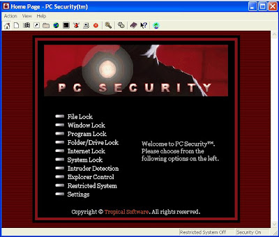 pc security menu