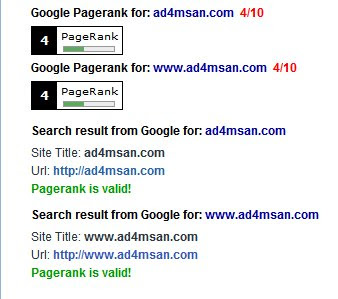 PageRank ad4msan.com