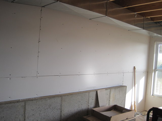 was put up in the basement we weren 39 t going to drywall the basement
