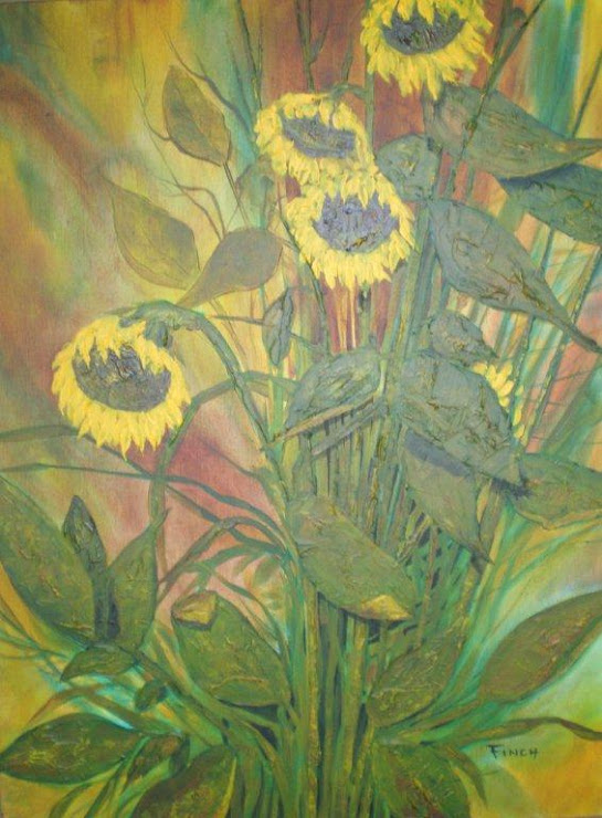 Sunflowers - Acrylic 3' x 4'