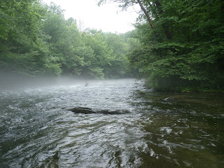 Fog over Nantahala River