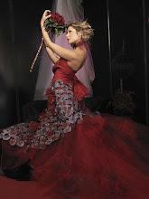 Vestidos de noiva vermelhos