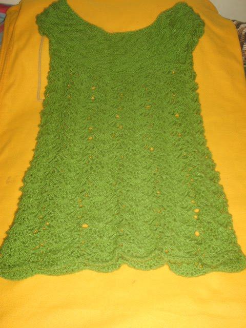 vestidoa aplillo y crochet adulto