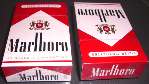 Craven A cigarette pack size